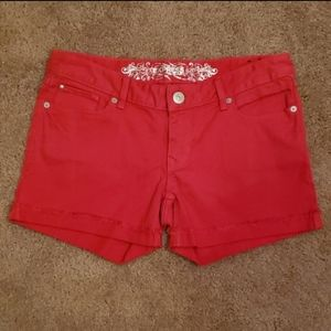 Express Jean's Hot Red Shorts